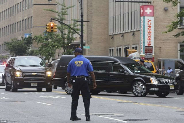 NYPD: Police officers directed traffic out front of the church