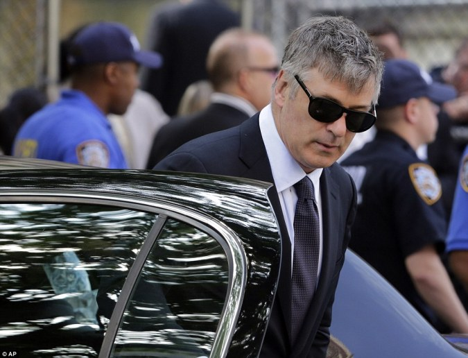 Baldwin: Actor Alec Baldwin emerged from a car wearing dark sunglasses