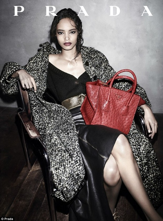Milestone: Kenyan-born Malaika Firth features in Prada's new ad campaign