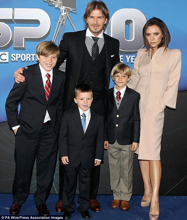 2010: David and Victoria attended the Sports Personality of the Year awards with sons Brooklyn, Cruz and Romeo