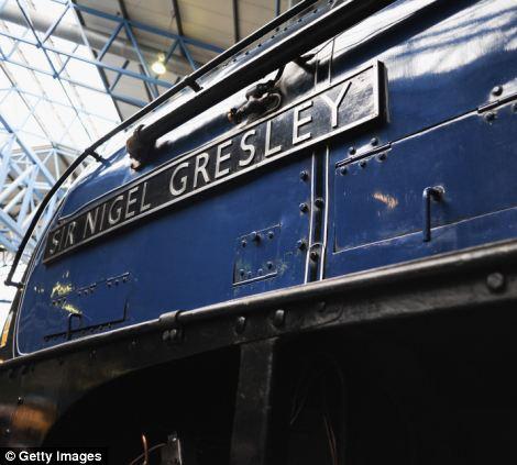 The steam locomotive Sir Nigel Gresley at the National Railway Museum