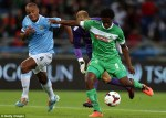 Opener Bongani Ndulula Of AmaZulu Scores The Opening Goal In Their