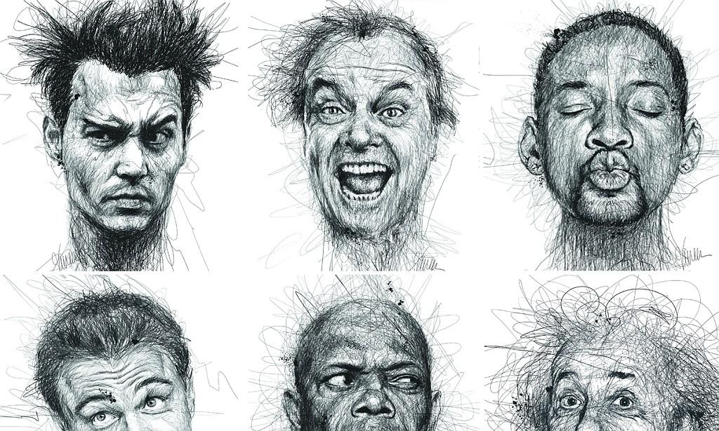 Create 3d Name Wallpaper Online Free Dyslexia Artist Vince Low Scribbles Portraits Of Famous