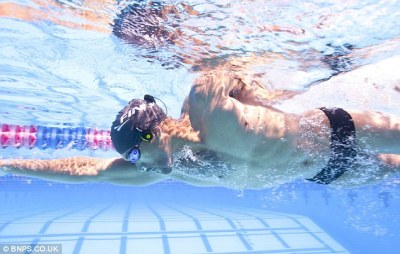 Incredible underwater headphones that transmit music to swimmers' ears by vibrating sound ...