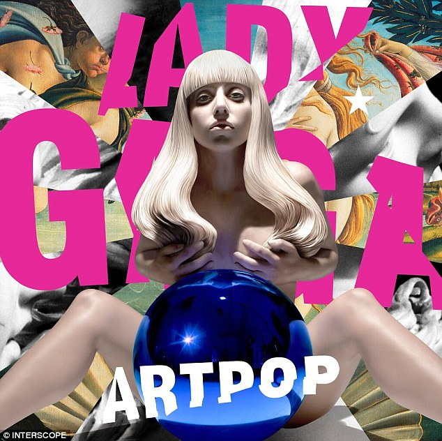 Statuesque: Lady Gaga revealed the cover for her new album PopArt via Twitter on Monday