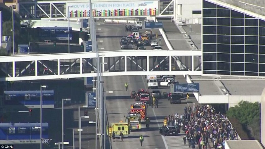 Passengers flee LAX today amid reports of shots fired