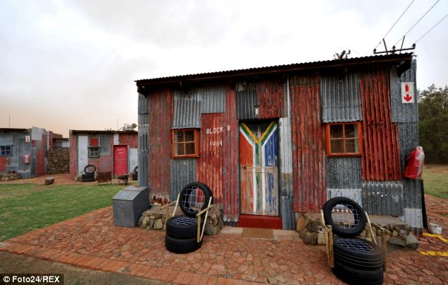 Tourists can pay to stay in an iron shack the mimics those lived in by millions of impoverished Africans