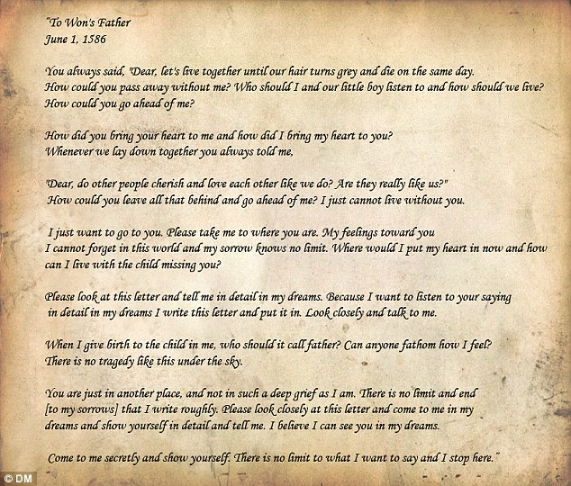 The 500-year-old love letter written by a mourning dead man\u0027s - Love Letter