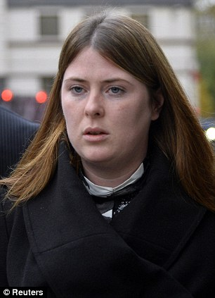 Rebecca Rigby, widow of murdered British soldier Lee Rigby, who fled the court ion tears today