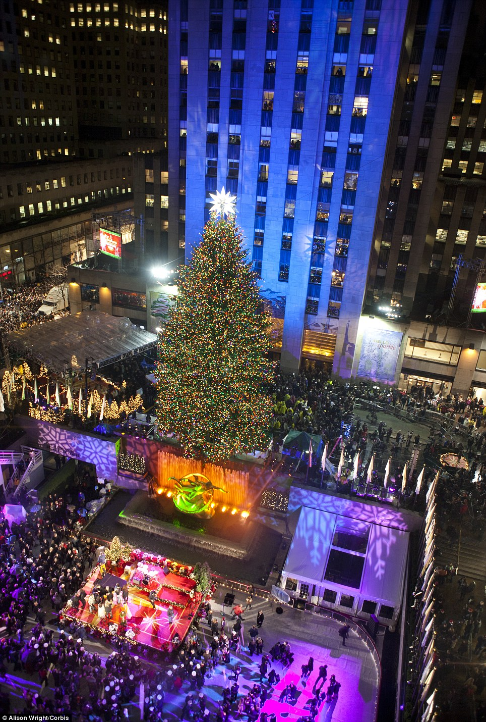 Rockefeller Center Tree Lighting Channel Predictable History, Unpredictable Past: Through The Years