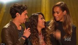 New friends: Leona Lewis had high praise for Alex and Sierra