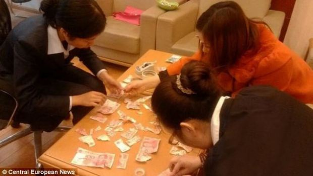 Money problems: The boy's family rally round to try and piece together some of the money - thought to be worth around £3,000