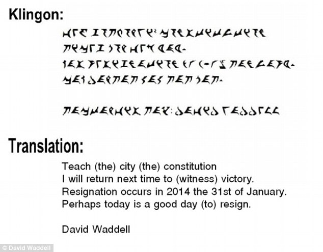 Kent Head Teacher Blasts Parents In Resignation Letter Councilman Writes Resignation Letter In Klingon Daily