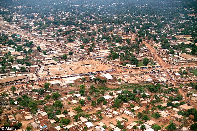 Shocking: A man ate the leg of a Muslim in the Central African Republic's capital, Bengui (pictured), in revenge for the murders of his pregnant wife, his sister-in-law and her baby