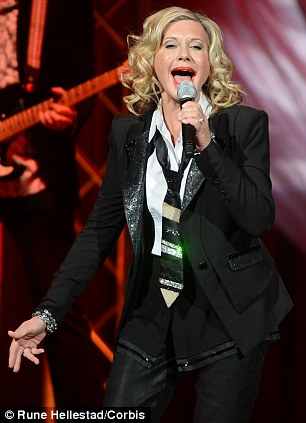 Pop royalty: Olivia Newton-John will perform on board Carnival cruise ships this year