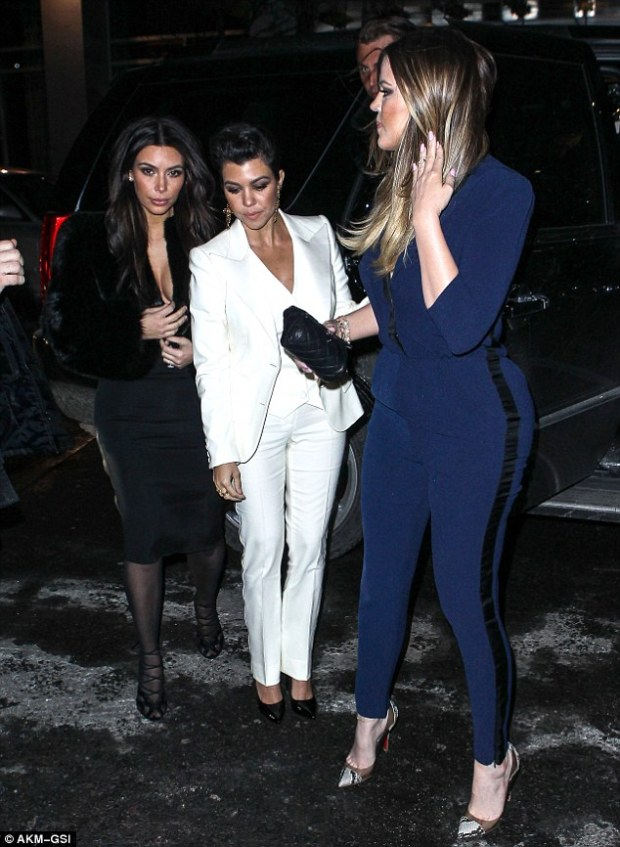 Unique, yet alike: The Keeping Up With the Kardashian stars took care to dress in their own colors