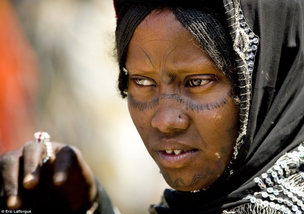 Popular: Facial tattoos are particularly common among the Afar, especially for women, and can include both dot and line patterns
