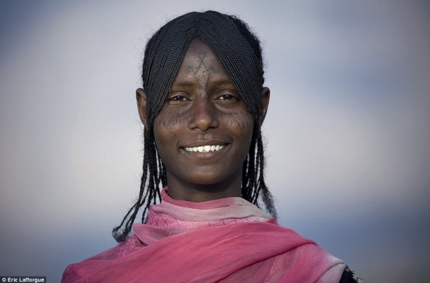 Tradition: Other tribes to embrace scarification include the Afar people, who live in Northern Ethiopia and are famous for using butter in their hair