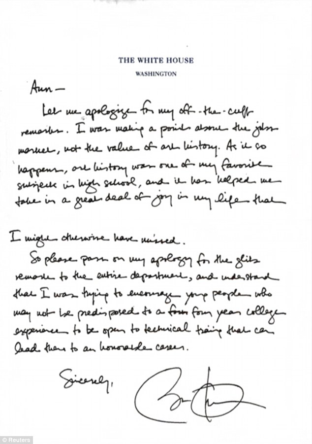 Marco Rubio attacks Obama\u0027s apology letter to art history professor - apology letter to family