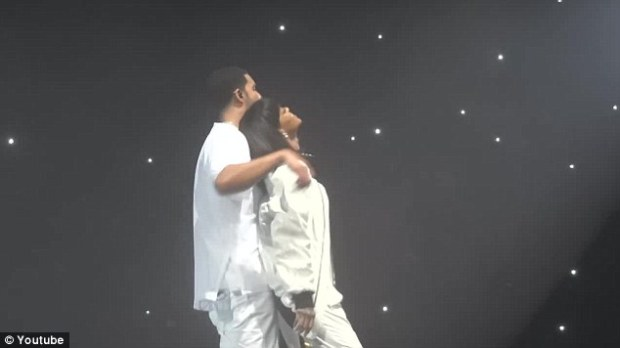 The Grind: Riri and Drizzy - who dated in 2010 - performed her track Pour It Up as well as their flirty 2011 duet Take Care before 17,000 screaming fans