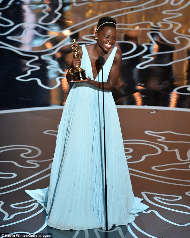 Life-changing role: Her heart-wrenching portrayal of tormented slave Patsey in 12 Years a Slave scored her the Oscar for best supporting actress on Sunday