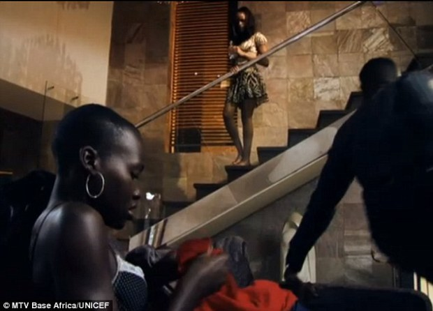 Caught in the act: Lupita's college student character is often in various states of undress throughout the series.