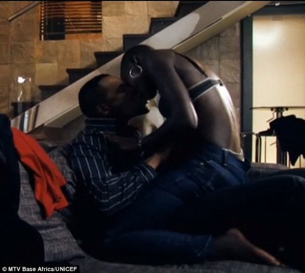 Getting down: In a previous encounter with her older boss, the flawless It Girl straddles his lap wearing little more than a black lacy bra