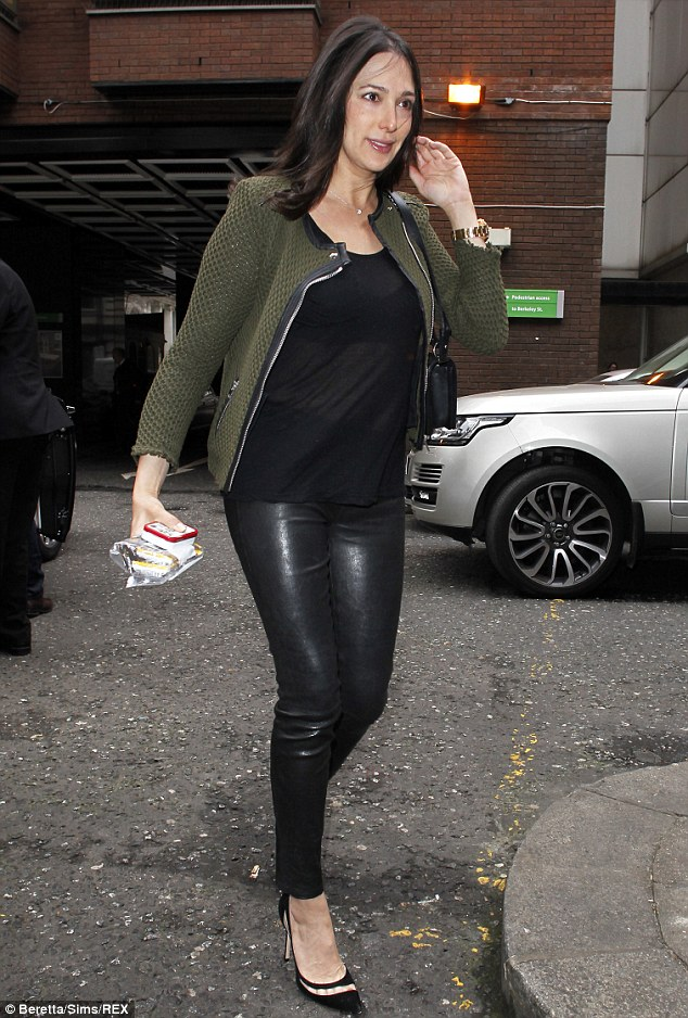 Baby Newborn Jumper Lauren Silverman Steps Out In Favourite Leather Skinny