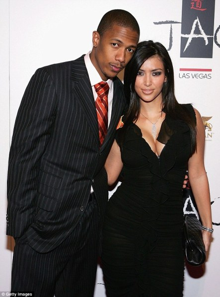 Short relationship: The now married rapper, pictured in Las Vegas, dated the reality star briefly from September 2006 to January 2007, and has previously said they split after Kim lied about the existence of her now notorious sex tape with Ray J