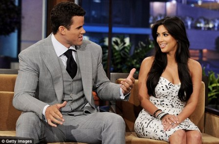 Not a success: Kim's marriage to basketball player Kris Humphries lasted for only 72 days
