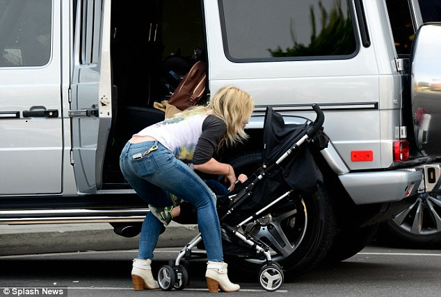 Hilary Duff Shows Off Her Edgy Side In Iron Maiden Top And