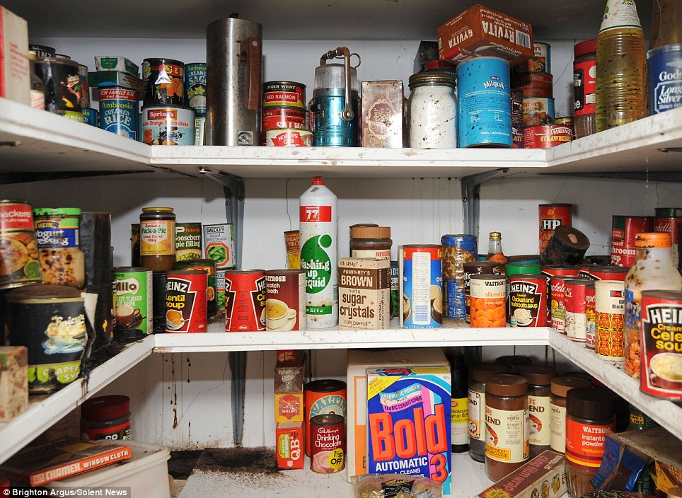 Cupboard Opened For First Time In 40 Years Contains Food