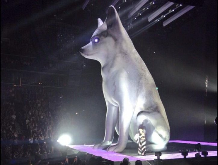 Perfect likeness: in the past few days Miley has managed to get this perfect likeness of her dog made