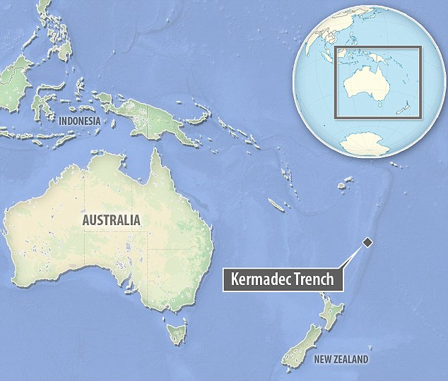 The destination for this mission is the Kermadec Trench just off the coast of New Zealand, the world's fifth deepest trench and also one of the coldest due to inflow from Antarctica