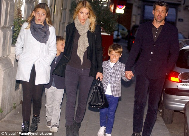 Patrick Dempsey Enjoys A Vacation With His Family In Paris