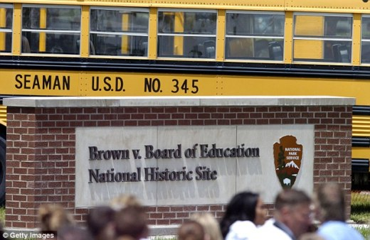 The historic site of Brown v. Board of Education is just a few blocks away from Topeka High School