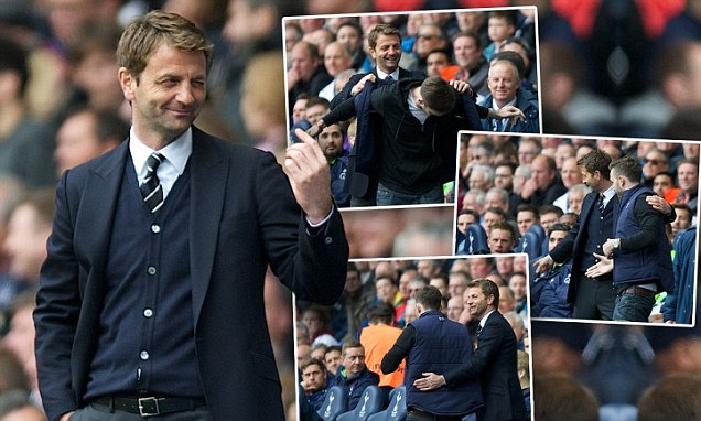 Tim sherwood gives tottenham fan his gilet and offers him