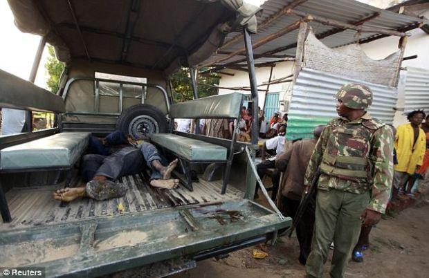 Death toll rising: Authorities have blamed al-Shabab, Somalia's al-Qaida-linked terror group, for last night's atrocity in Kenya