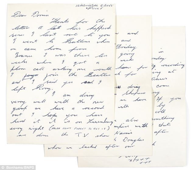 With love from me to you Ringo Starr\u0027s love letters to his