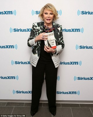 Making a controversy: Joan Rivers targeted the Obamas in her latest verbal rant, pictured in New York on Monday