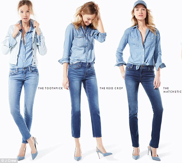 J Crew selling TRIPLE ZERO for customers with tiny 23-inch-waist
