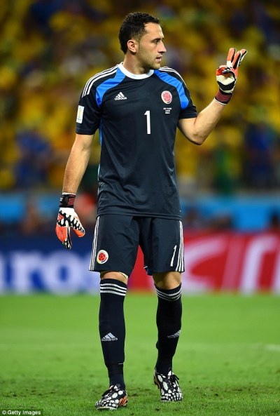 Arsenal agree fee with Nice for Colombia goalkeeper David Ospina | Daily Mail Online