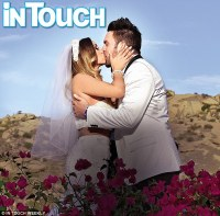 Romantic setting: The couple exchanged vows - and kisses ...