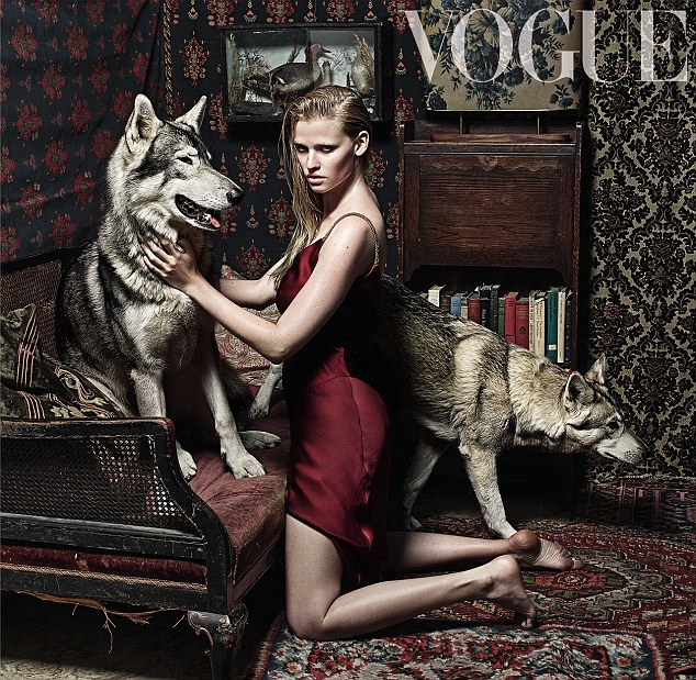 Broken Hearted Girl Wallpaper Lara Stone Poses For Vogue With Wolves In Fairytale Shoot