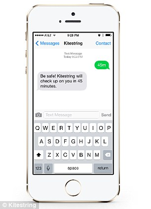 Kitestring app texts to check up on you and alerts contacts in an