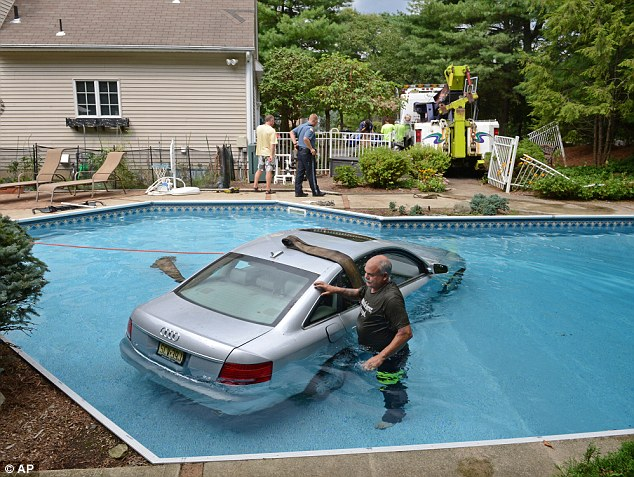 New Jersey Man Crashes Car Into Daughters Swimming Pool
