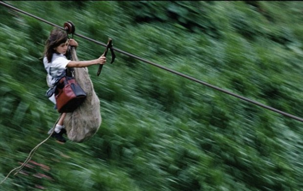 Taking the shortcut: For the handful of families living in the area 40 miles southeast of Colombia's capital Bogota, the wire is their only access to the outside world. It is 1,300ft above the Rio Negro and whizzes travellers across the river at 40mph to the opposite bank, half a mile away