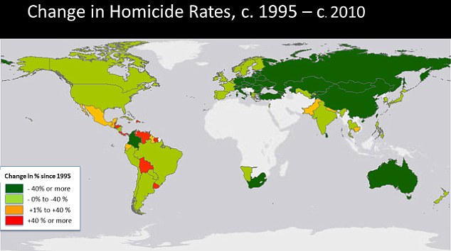 List of countries by intentional homicide rate