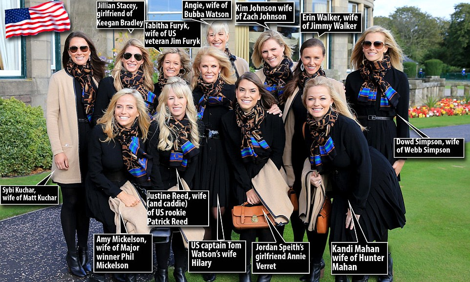 Us Ryder Cup Team List Of American Ryder Cup Golfers Wikipedia It Cant Be That Cold European Wags Wrap Up Warm To Join