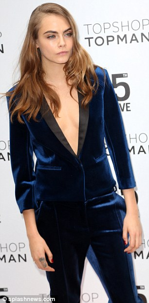 Desktop Wallpaper Stylish Girl Cara Delevingne Goes Topless Under Androgynous Suit At